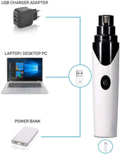 Load image into Gallery viewer, Paws Gems Pet Nail Grinder, Nail Grooming Tool, 2 Speeds Adjustable Electric Paw Trimmer Clipper File for Dogs Cats Gentle Paws Painless Less Stress USB - Chargeable through pc, charger and powerbank