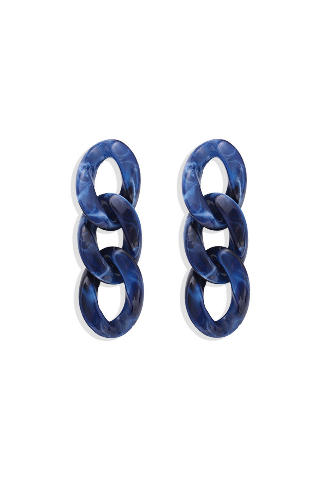 Acrylic Chain Dangles- Blue