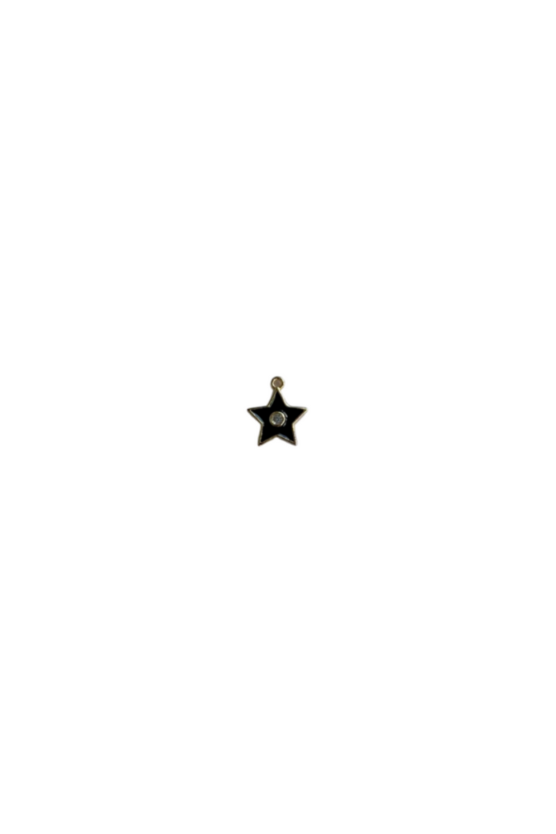Tiny Black Star Dot Charm