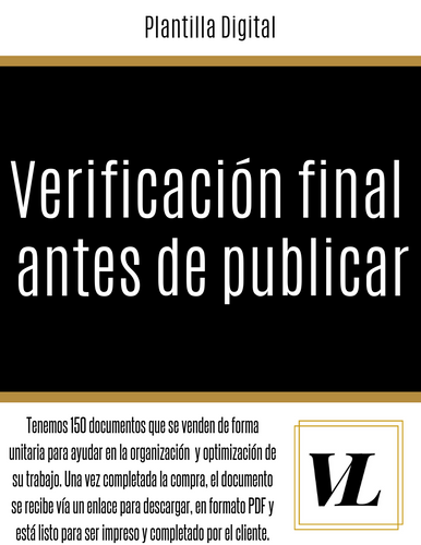 Blog: Verificación final antes de publicar