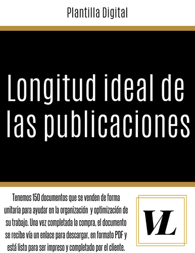 Longitud ideal de las publicaciones