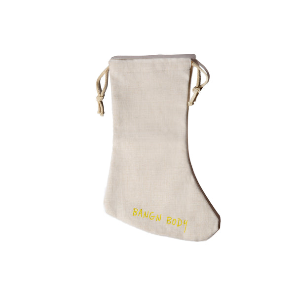 Limited Edition Linen Christmas Stocking