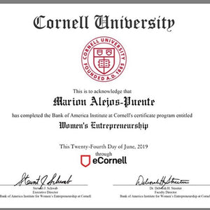 Cornell's Women Entrepreneurship Program