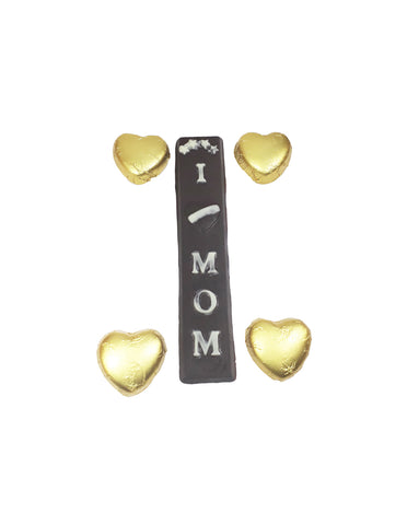 Heart Shape Choco Pieces with Love Mom Choco Bar
