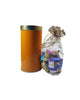 Orange Tin Can with a Gift Pack of 15 Chocolates