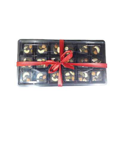 Festive Gift Pack – 18 Fruit & Nuts Choco Squares