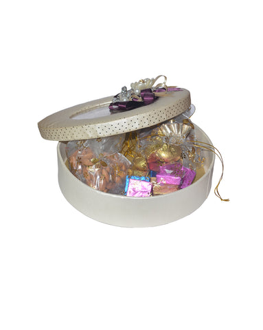 Beige Floral Festive Combo – Dry Fruits & Assorted Chocolates
