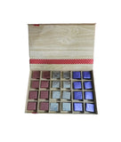Wooden Floral Chocolate Gift Box – 24 Assorted Pieces