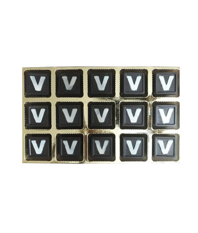 Personalized Chocolate Squares – 15 'V' Printed Pieces