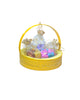 Happy Diwali Golden Netted Yellow Metal Basket Hamper