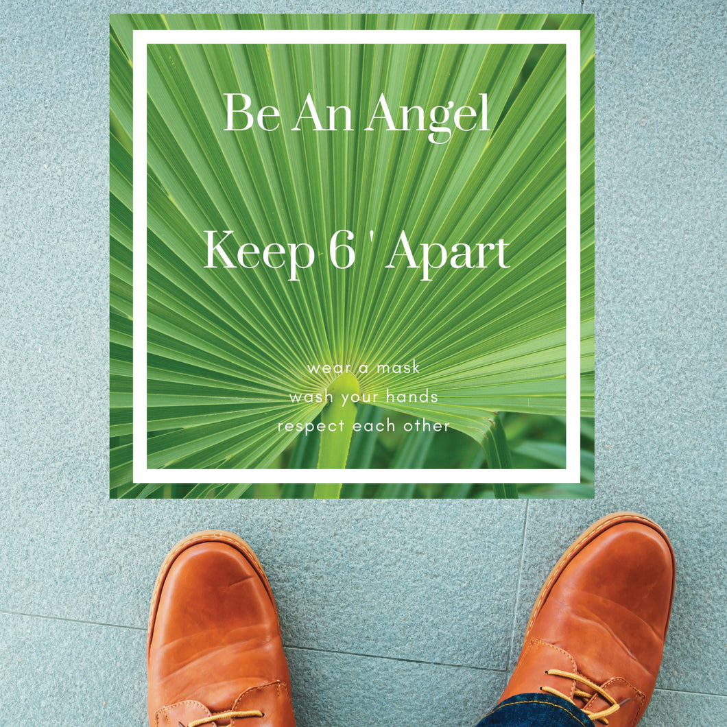 Be An Angel...Green Square Floor Graphics (Sold in Packs of 5, 10 or 25)