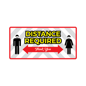 Distance Required Rectangle Floor Graphic (8 in. X 17 in.) (Sold in packs of 5 or 25)