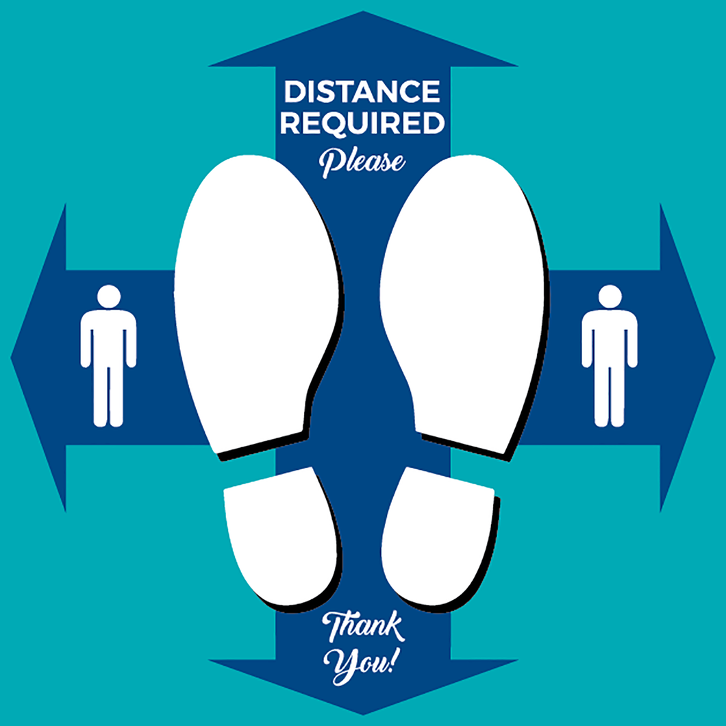Distance Required Your Spot Square Floor Graphics (Sold in Packs of 5, 10 or 25)