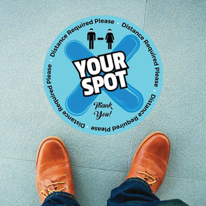Your Spot Distance Required Circle Floor Graphic (25 Decals Per Package)