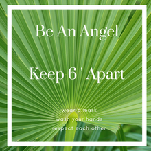 Load image into Gallery viewer, Be An Angel...Green Square Floor Graphics (Sold in Packs of 5, 10 or 25)