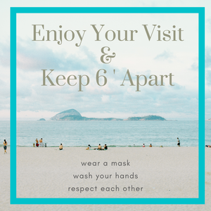 Enjoy Your Visit Beach Square Floor Graphics (Sold in Packs of 5, 10 or 25)