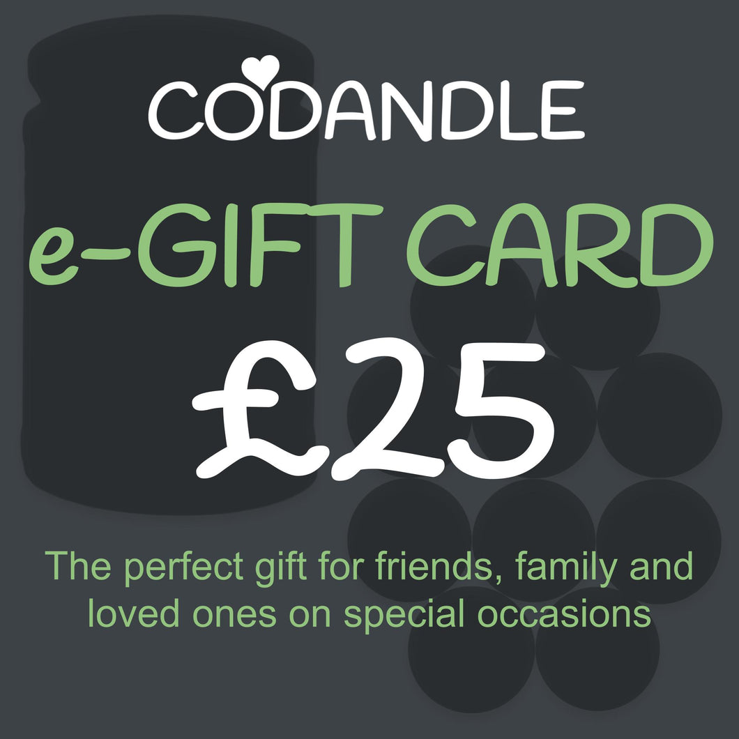 £25 Gift Card - Codandle Candles & Wax Melts