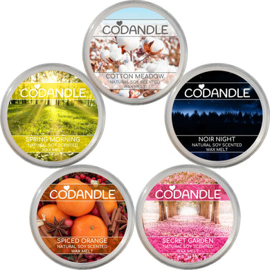 Codandle Soy Scented Wax Melts mix and match