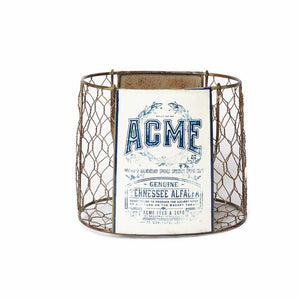 Vintage ACME Chicken Wire Basket