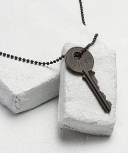 Matte Black Giving Key Necklace