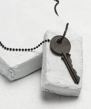 Load image into Gallery viewer, Matte Black Giving Key Necklace