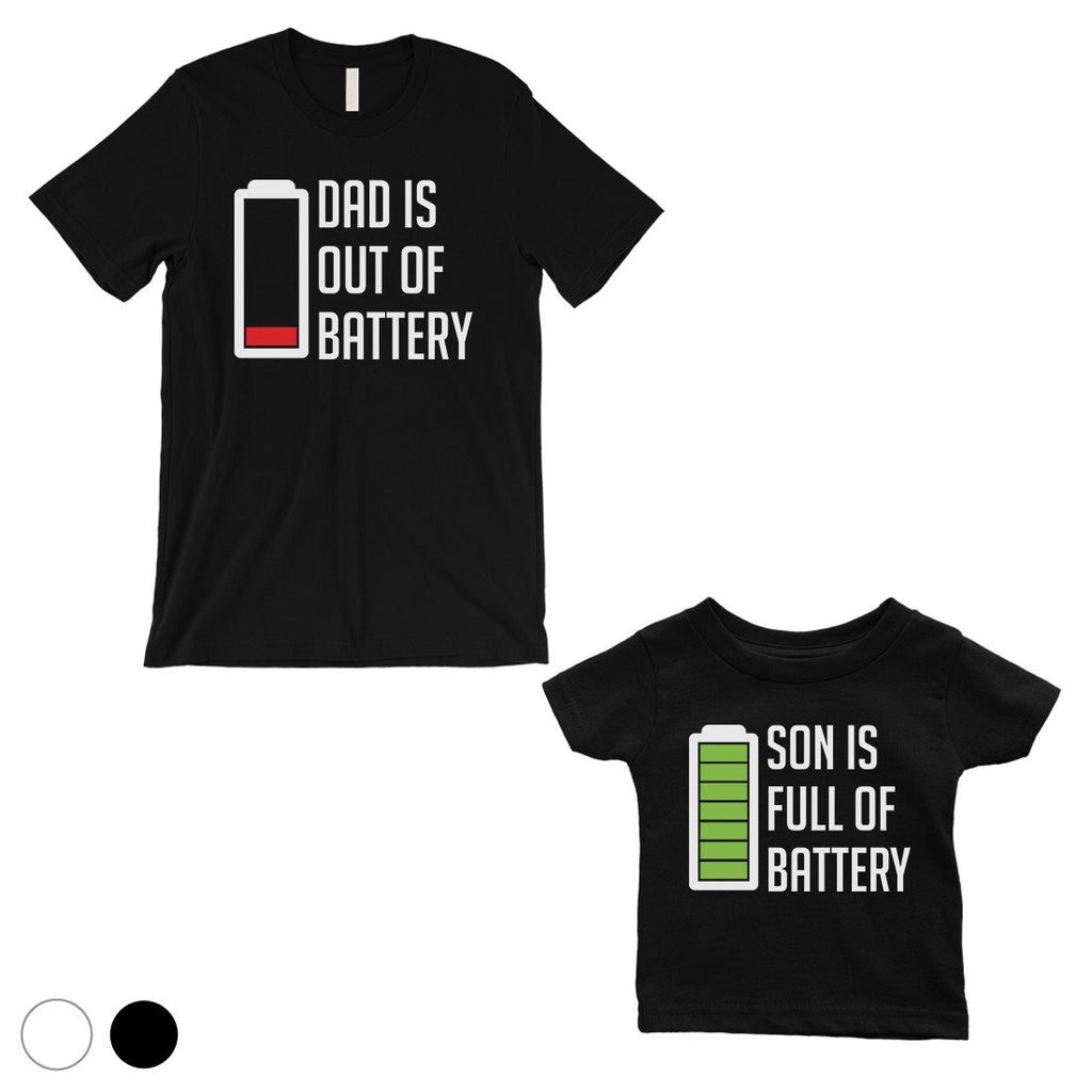 7af403479e8 Dad And Son Battery Dad and Baby Matching Gift T-Shirts White – janelane
