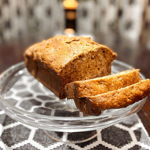 honey hemp pollen banana loaf