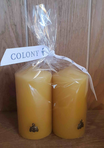 candle natural beeswax solid gift set