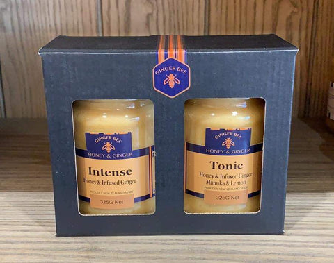 gingerbee intense tonic honey ginger lemon gift pack