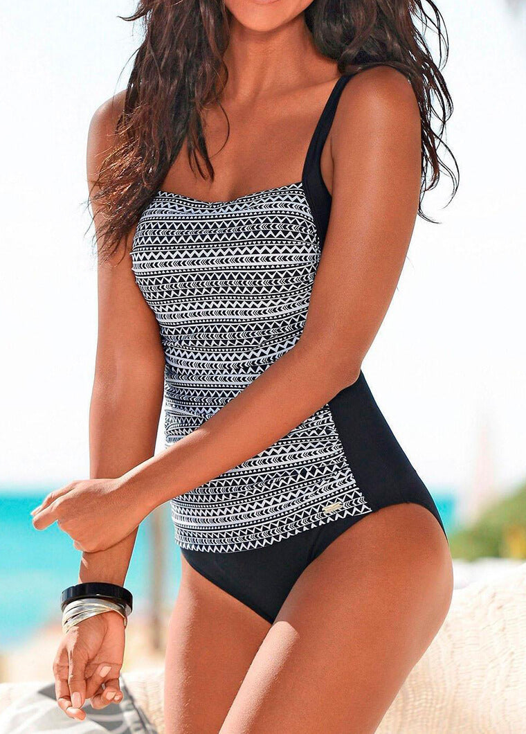 Sexy Geometrical Printed  One Piece Swimsuit