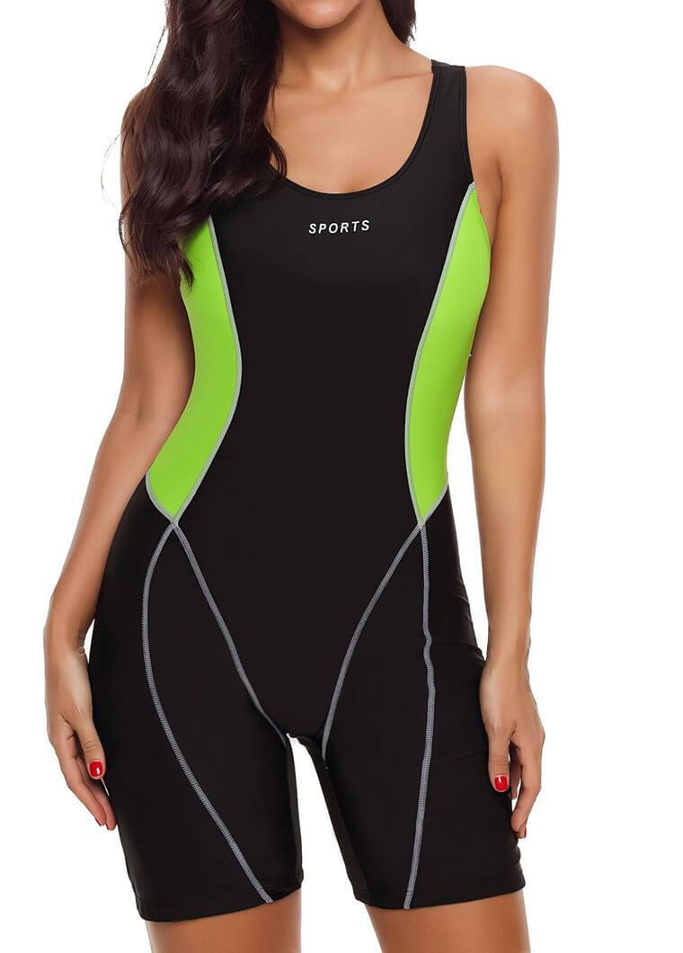 Open Back Patchwork Sports Wetsuit
