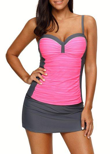 Sweetheart Neckline Tankini Top and Pantskirt