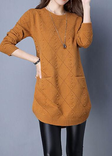 Turtleneck Knit Pocket Sweater