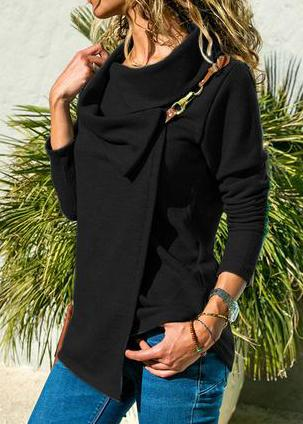 Long Sleeved Hook  Hoodie - fashionyanclothes