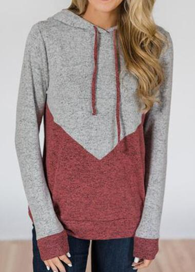 Patchwork Grey And Pink Hoodie - fashionyanclothes