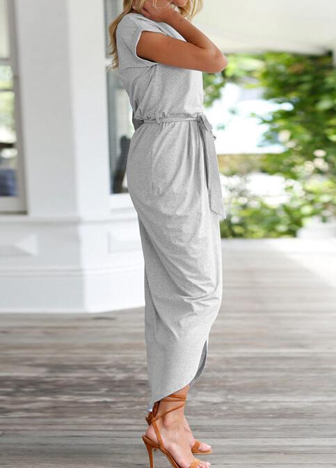 Soild Color Elegant Party Maxi Dresses - esshe