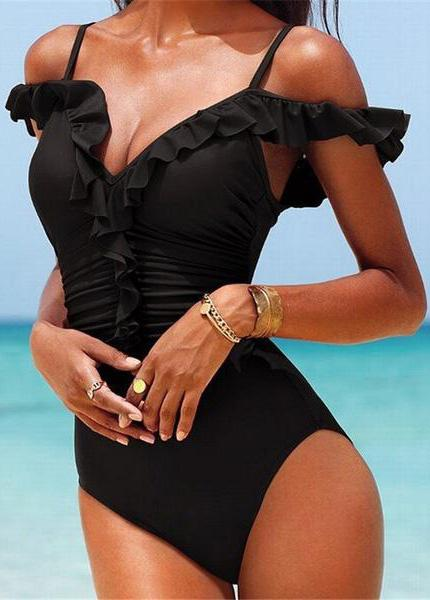 Sexy High Cut One Piece  Backless Swimsuit - fashionyanclothes
