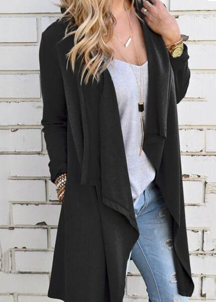 Long Sleeve Irregular Cardigan - fashionyanclothes