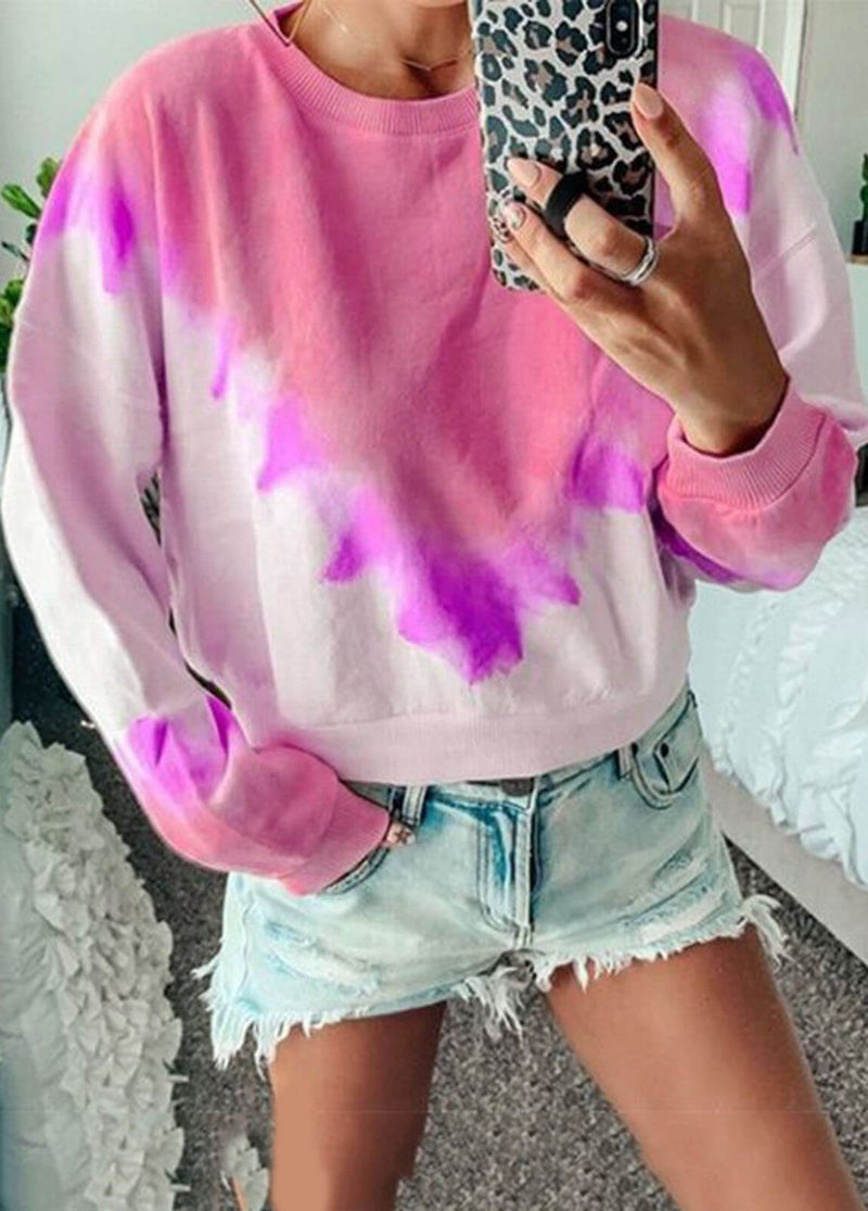 Printed Long Sleeve Crewneck Sweatshirt
