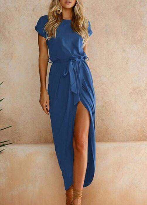 Soild Color Elegant Party Maxi Dresses - fashionyanclothes