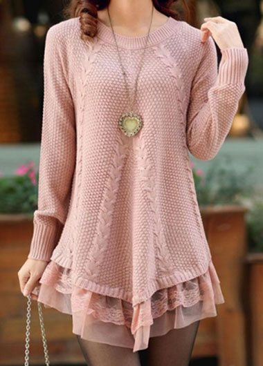 Lace Thickening Loose Sweater - fashionyanclothes