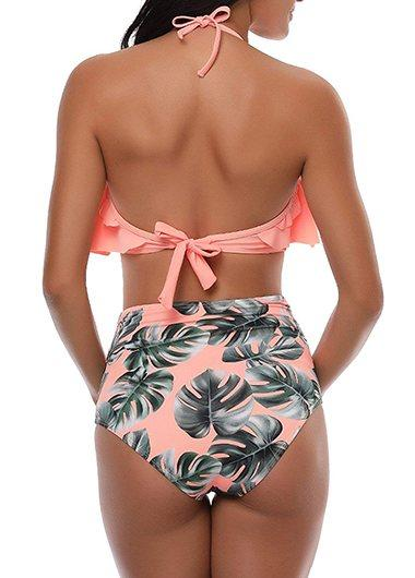High Waist Flounce Bathing Suit - fashionyanclothes