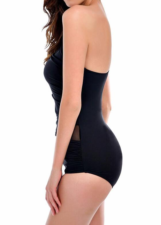 Mesh One Shoulder Swimwear - fashionyanclothes
