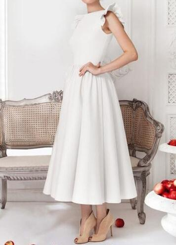 Sleeveless Solid Color High Waist Dress