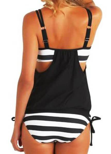 Sexy Stripes Lined Up Double Up Tankini - esshe