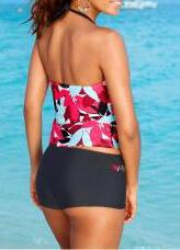 Floral Push Up Tankini - fashionyanclothes