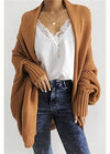 Plus Size Solid Cardigan - fashionyanclothes