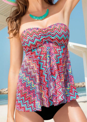 Vintage Colorful Striped Two Piece - esshe