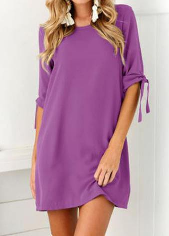 Short Sleeve Casual  Loose Dress
