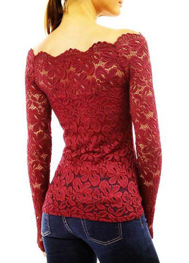 Sexy Off Shoulder Lace Crochet Women Blouses - esshe